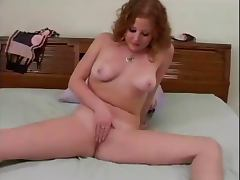 Hot closeup masturbation session featuring delectable redhead Cherry Poppens just in heels