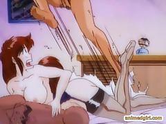 Bigboobs hentai gets swing doggystyle fucked bigcock