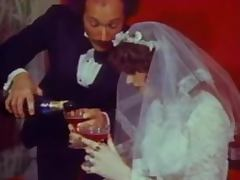 Vintage bride gets her asshole pounded doggy style