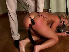 Busty babe Valentina Blue gets hot dose of spanking