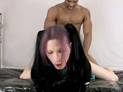 Goth videos. When a Goth participates in sex scenes then do expect a lot of roughness