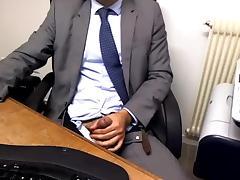 Guy Caught Masturbating In Office