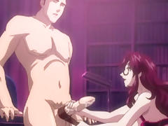 Hentai sucking bigcock and swallowing cum