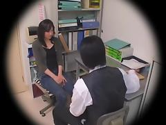 Skinny teen hottie banged in spy cam Japanese sex video