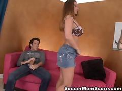 Luscious booty Devon Lee lets him lick her and so it starts