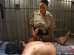 Cherokee toys and humiliated Damien in prison ward