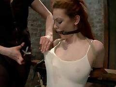 Justine Joli gets her pussy tortured and toyed by a master