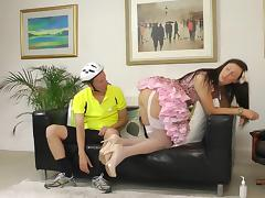 Bicycle Boy and Lara Latex are fucking after walk