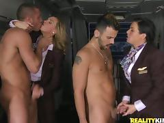 Tanya Tate in Hot CFNM Group Sex with Cock Sucking and Anal
