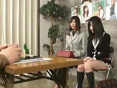 Sweet Japanese girl gets her pussy fucked from behind