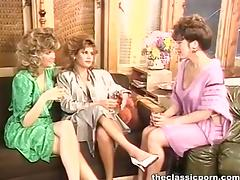Three retro pussies for black stick
