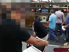 Milf needs a plane ticket so she agrees to have sex with the pawnshop guy