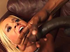 Totally Tabitha goies wild on a black snake