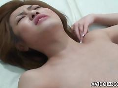 Hairy asian porn hottie Ai Aito gets drilled hardcore in missionary doggystyle