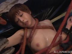 Crazy Japanese fetish video of a chick fucking an alien