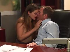 Allie Haze gets her pussy banged remarcably well in an office